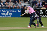 Joe Burns hits the ball during the NatWest T20 Blast South Group match between Gloucestershire County Cricket Club and Middlesex County Cricket Club at the Bristol County Ground, Bristol, United Kingdom on 15 May 2015. Photo by Alan Franklin.
