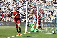 Esultanza Gol Patrik Schick Roma 0-3 Goal celebration <br /> Ferrara 21-04-2018 Stadio Paolo Mazza Football Calcio Serie A 2017/2018 Spal - AS Roma Foto Andrea Staccioli / Insidefoto