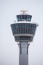 THEMENBILD, Airport Muenchen, Franz Josef Strauß (IATA: MUC, ICAO: EDDM), Der Flughafen Muenchen zählt zu den groessten Drehkreuzen Europas, rund 100 Fluggesellschaften verbinden ihn mit 230 Zielen in 70 Laendern, im Bild der Tower des Flughafens Muenchen // THEME IMAGE, FEATURE - Airport Munich, Franz Josef Strauss (IATA: MUC, ICAO: EDDM), The airport Munich is one of the largest hubs in Europe, approximately 100 airlines connect it to 230 destinations in 70 countries. picture shows: the tower at the airport Munich, Munich, Germany on 2012/05/06. EXPA Pictures © 2012, PhotoCredit: EXPA/ Juergen Feichter