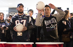 February 4, 2018 - Minneapolis, MN, U.S. - JIMMY FALLON plays beer pong with fans at the StubHub Live: Field House Super Bowl pregame event at Target Field. (Credit Image: © Leila Navidi/Minneapolis Star Tribune via ZUMA Wire)