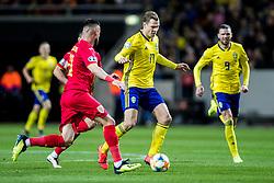March 23, 2019 - Stockholm, SWEDEN - 190323  Viktor Claesson of Sweden during the UEFA Euro Qualifier football match between Sweden and Romania on March 23, 2019 in Stockholm. (Credit Image: © Mathilda Ahlberg/Bildbyran via ZUMA Press)