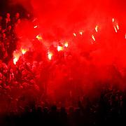 Besiktas's Supporters fans during their Turkish Superleague soccer match SB Elazigspor between Besiktas at the Ataturk Stadium in Elazig Turkey on Saturday, 09 February 2013. Photo by Aykut AKICI/TURKPIX
