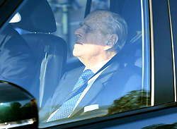 The Duke of Edinburgh arriving for the Queen's Christmas lunch at Buckingham Palace, London.