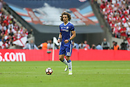 Chelsea's David Luiz(30) on the ball during the The FA Cup final match between Arsenal and Chelsea at Wembley Stadium, London, England on 27 May 2017. Photo by Shane Healey.