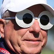 Ryder Cup 2016. Day Two. A spectator during the Ryder Cup at the Hazeltine National Golf Club on October 01, 2016 in Chaska, Minnesota.  (Photo by Tim Clayton/Corbis via Getty Images)