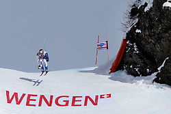 19.01.2013, Lauberhornabfahrt, Wengen, SUI, FIS Weltcup Ski Alpin, Abfahrt, Herren, im Bild Silvan Zurbriggen (SUI) // in action during mens downhillrace of FIS Ski Alpine World Cup at the Lauberhorn downhill course, Wengen, Switzerland on 2013/01/19. EXPA Pictures © 2013, PhotoCredit: EXPA/ Freshfocus/ Christian Pfander..***** ATTENTION - for AUT, SLO, CRO, SRB, BIH only *****