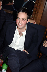 LORD BUCKHURST at a party hosted by Tatler magazine to celebrate the publication of the 2004 Little Black Book held at Tramp, 38 Jermyn Street, London SW1 on 10th November 2004.<br />
