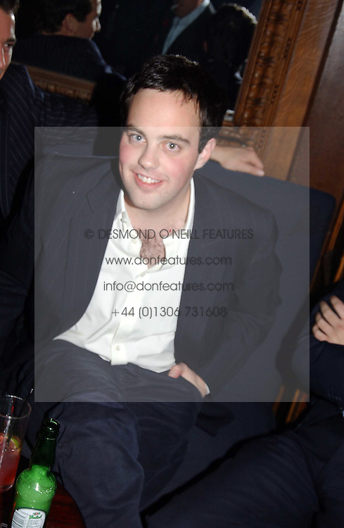 LORD BUCKHURST at a party hosted by Tatler magazine to celebrate the publication of the 2004 Little Black Book held at Tramp, 38 Jermyn Street, London SW1 on 10th November 2004.<br /><br />NON EXCLUSIVE - WORLD RIGHTS