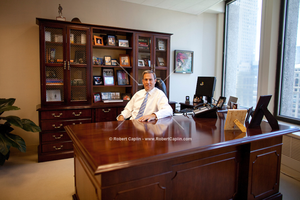 Mitch Rudin, President and Chief Executive Officer of CBRE's New York Tri-State Region in his New York office. ..Photo by Robert Caplin