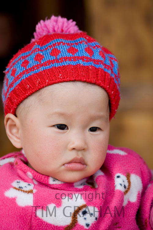 Young boy from Zhuang Minority Group, Ping An, near Guilin. China has a one child policy to limit population.