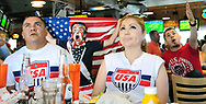 Robin Zielinski – Sun-NewsSoccer fans react while watching the USA-Belgium World Cup game on Tuesday at Hooters. Pictured from left to right, Valente Hernandez, Jacob Lehman, 15, Maggie Hernandez and Richard Pacheco.