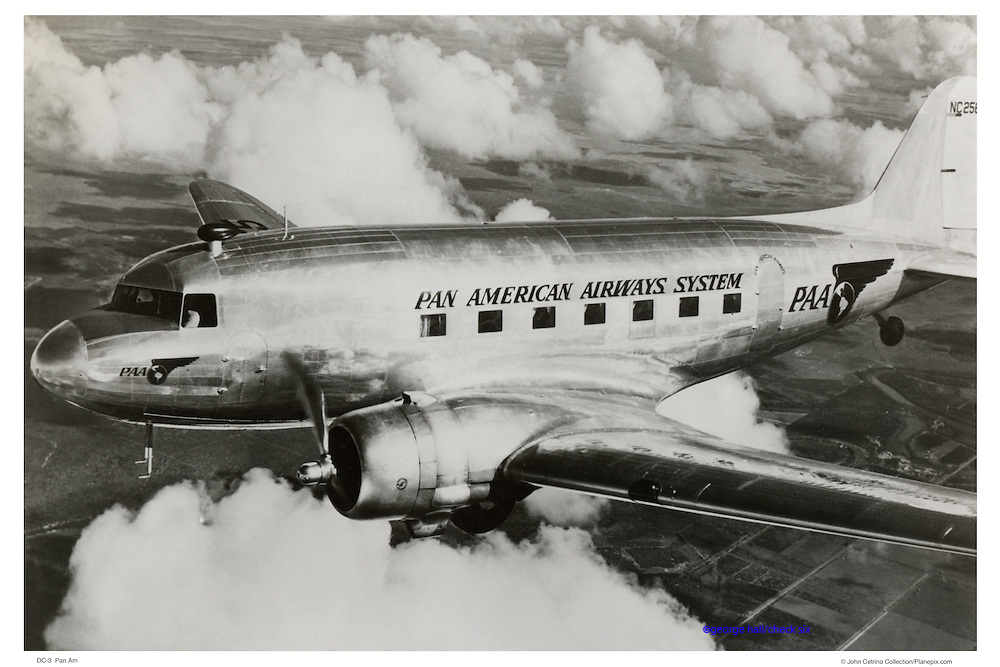 Pan Am DC-3 in flight