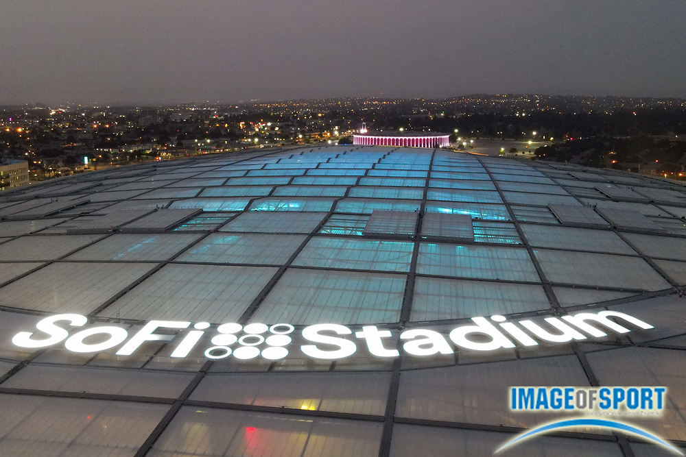 General overall view of SoFi Stadium, Monday, Sept. 7, 2020, in Inglewood, Calif. (Dylan Stewart/Image of Sport)