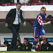 Croatia's coach Slaven BILIC (L) and Ivica OLIC (R) during their UEFA EURO 2012 Play-off for Final Tournament First leg soccer match Turkey betwen Croatia at TT Arena in Istanbul Nüovember11, 2011. Photo by TURKPIX