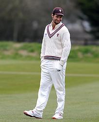 Somerset's Lewis Gregory - Photo mandatory by-line: Harry Trump/JMP - Mobile: 07966 386802 - 23/03/15 - SPORT - CRICKET - Pre Season Fixture - Day 1 - Somerset v Glamorgan - Taunton Vale Cricket Club, Somerset, England.