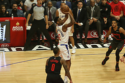 December 17, 2018 - Los Angeles, CA, U.S. - LOS ANGELES, CA - DECEMBER 17: Los Angeles Clippers Guard Shai Gilgeous-Alexander (2) shooting during the Portland Trail Blazers at Los Angeles Clippers NBA game on December 17, 2018 at Staples Center in Los Angeles, CA.. (Photo by Jevone Moore/Icon Sportswire) (Credit Image: © Jevone Moore/Icon SMI via ZUMA Press)