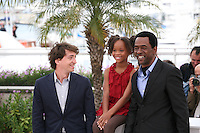 Director Benh Zeitlin, Actress Quvenzhané Wallis and actor Dwight Henry at the Beasts of the Southern Wild film photocall at the 65th Cannes Film Festival. Photocall on Saturday 19th May 2012 in Cannes Film Festival, France.
