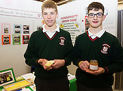 27/11/2016 REPRO FREE: Michael Officer and Eoghan Geraghty Calasanctius College Oranmore with their Honey exhibition inNUI Galway as part of the Galway Science & Technology Festival.<br />  <br /> <br /> Photo: Andrew Downes, Xposure.