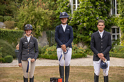 Podium CCI4*, Krajewski Julia, Auffarth Sandra, Wahler Christoph, GER<br /> CCI4* Arville 20202<br /> © Hippo Foto - Dirk Caremans<br />  23/08/2020