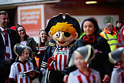 Sheffield Utd mascot before the EFL Sky Bet Championship match between Sheffield United and Bristol City at Bramall Lane, Sheffield, England on 30 March 2019.