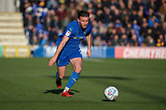 AFC Wimbledon defender Luke O'Neill (2) dribbling during the EFL Sky Bet League 1 match between AFC Wimbledon and Fleetwood Town at the Cherry Red Records Stadium, Kingston, England on 8 February 2020.