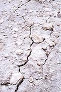 Israel, Dead Sea, salt crystallization caused by water evaporation