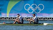 "Rio de Janeiro. BRAZIL.  GBR M2-, Bow Alan SINCLAIR and Stewart INNES.  2016 Olympic Rowing Regatta. Lagoa Stadium,<br /> Copacabana,  ""Olympic Summer Games""<br /> Rodrigo de Freitas Lagoon, Lagoa.   Thursday  11/08/2016 <br /> <br /> [Mandatory Credit; Peter SPURRIER/Intersport Images]"