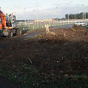 Bomen gerooid aan de Bestevear - IJsselmeerstraat voor de bouw van de disco