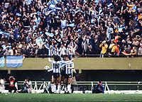 ARGENTINA TEAM CELEBRATE AFTER THE FINAL WHISTLE<br />ARGENTINA WORLD CUP 1978 <br />ARGENTINA V HOLLAND (3-1) 25/06/1978 FINAL<br />WORLD CUP 1978<br />PHOTO ROGER PARKER FOTOSPORTS INTERNATIONAL