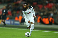 Georges-Kevin Nkoudou of Tottenham Hotspur in action. UEFA Champions league match, group E, Tottenham Hotspur v CSKA Moscow at Wembley Stadium in London on Wednesday 7th December 2016.<br /> pic by John Patrick Fletcher, Andrew Orchard sports photography.
