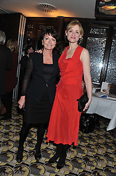Left to right, ZITA WEST and ANNE MARIE DUFF at a party to celebrate the publication of Zita West's book - Your Pregnancy Consultant held at China Tang, Park Lane, London on 6th December 2012.