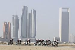 February 24, 2019 - Abu Dhabi, Emirati Arabi Uniti, Emirati Arabi Uniti - Foto LaPresse - Fabio Ferrari.24 Febbraio 2019 Abu Dhabi (Emirati Arabi Uniti).Sport Ciclismo.UAE Tour 2019 - Tappa 1 - Da Al Hudayriat Island a Al.Hudayriat Island - Crono squadre 16 km.Nella foto: ..Photo LaPresse - Fabio Ferrari.February 24, 2019 Abu Dhabi (United Arab Emirates) .Sport Cycling.UAE Tour 2019 - Stage 1 - From Al Hudayriat Island to.Al Hudayriat Island - TTT 9,9 miles.In the pic: (Credit Image: © Fabio Ferrari/Lapresse via ZUMA Press)