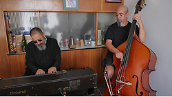 South Africa - Cape Town - 050520.  Lockdown Blues. Hilton Schilder and his cousin Eldred playing the lockdown song he composed for all those in lockdown.  Picture: Ian Landsberg/African News Agency (ANA).