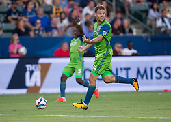 July 29, 2017 - Carson, CA, USA - Carson, CA - Saturday July 29, 2017: Chad Marshall during a Major League Soccer (MLS) game between the Los Angeles Galaxy and the Seattle Sounders FC at StubHub Center. (Credit Image: © Michael Janosz/ISIPhotos via ZUMA Wire)