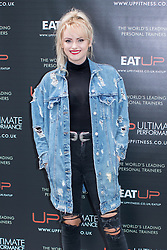 © Licensed to London News Pictures . 31/07/2017 . Manchester , UK . Coronation Street actor Katie McGlynn at the opening event for Up Gym in Spinningfields . Photo credit : Joel Goodman/LNP