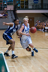 21 June 2008: Zhaque Gray (43) can't stop the drive by Morgan Harrington (10). IBCA ( Illinois Coaches Basketball Association) Girls Class 3 & 4 All Star Game held at the Shirk Center on the Campus of Illinois Wesleyan University in Bloomington Illinois