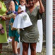 NLD/Amsterdam/20120721 - Huwelijk Berget Lewis en Sebastiaan van Rooijen, Edsilia Rombley en dochter Imaani