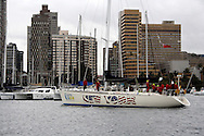 DURBAN - 16 November 2005 - Coming in second place, the New York Clipper enters the port of Durban as it completes the second leg of the 2005 Clipper Round the World Yacht Race. PIcture: Giordano Stolley