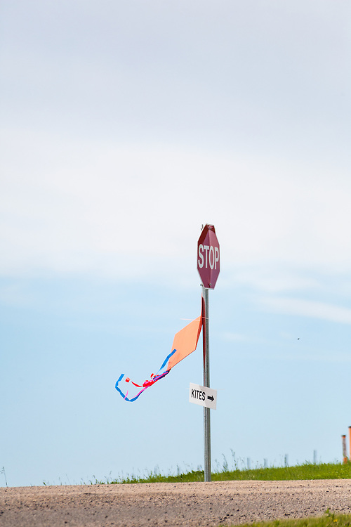 "Just follow the ""kite"" signs to the kite festival. Windscape Kite Festival, Swift Current, Saskatchewan."
