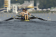Poznan, POLAND.  2006, FISA, Rowing World Cup, GBR W4X . Bow Debbie FLOOD, Sarah WINCKLESS, Frances HOUGHTON, Katherine GRAINGER,  move away from the start pontoon at the   'Malta Regatta course;  Poznan POLAND, Fri. 16.06.2006. © Peter Spurrier   ....[Mandatory Credit Peter Spurrier/ Intersport Images] Rowing Course:Malta Rowing Course, Poznan, POLAND