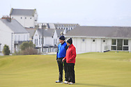 Mr & Mrs Joe Lyons (Galway) on the 3rd green during Round 3 of The West of Ireland Open Championship in Co. Sligo Golf Club, Rosses Point, Sligo on Saturday 6th April 2019.<br /> Picture:  Thos Caffrey / www.golffile.ie