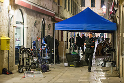 08.03.2016, Dubrovnik, CRO, Star Wars: Episode VIII, Drehort Dubrovnik, im Bild Vorbereitungen fuer die Dreharbeiten // Cameras and other equipment is preparing for the shooting of Star Wars. Dubrovnik, Croatia on 2016/03/08. EXPA Pictures © 2016, PhotoCredit: EXPA/ Pixsell/ Grgo Jelavic<br /> <br /> *****ATTENTION - for AUT, SLO, SUI, SWE, ITA, FRA only*****