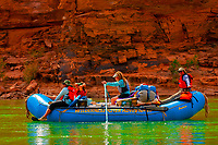 Whitewater rafting trip (oar trip) on the Colorado River in Grand Canyon, Grand Canyon National Park, Arizona USA