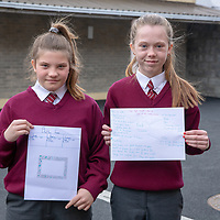 Caoimhe Madigan and Aoife Reidy with their Jessies Idea 'Button and Rock Frames'
