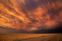 Mammatus clouds over Kansas, May 24, 2016.