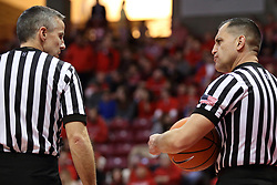 03 February 2018:  Toby Martinez, Roger Schmitz during a College mens basketball game between the Evansville Purple Aces and Illinois State Redbirds in Redbird Arena, Normal IL