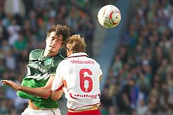 02.04.2011, Weserstadion, Bremen, GER, 1.FBL, Werder Bremen vs VFB Stuttgart, im Bild Denni Avdic ( Werder #09 ) Georg Niedermeier (Stuttgart #6)    EXPA Pictures © 2011, PhotoCredit: EXPA/ nph/  Kokenge       ****** out of GER / SWE / CRO  / BEL ******