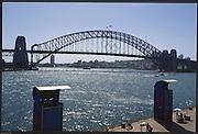 Sydney. AUSTRALIA. 2000 Summer Olympic Regatta, Penrith. NSW.  <br /> <br /> Downtown Sydney, Sydney Harbour,<br />   Opera House and Bridge<br /> <br /> [Mandatory Credit Peter SPURRIER/ Intersport Images] Sydney International Regatta Centre (SIRC) 2000 Olympic Rowing Regatta00085138.tif