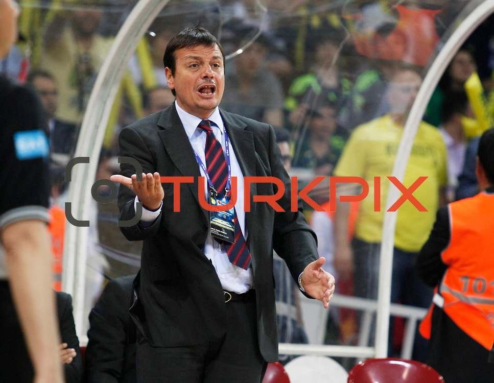Efes Pilsen's coach Ergin ATAMAN during their Turkish Basketball league Play Off Final third leg match Fenerbahce Ulker between Efes Pilsen at the Abdi Ipekci Arena in Istanbul Turkey on Tuesday 25 May 2010. Photo by Aykut AKICI/TURKPIX