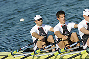 Munich, GERMANY, GBR M4X, Bow, Simon FIELDHOUSE, Sam TOWNSEND, Alex GREGORY and Bill LUCAS, during the FISA World Cup at the Munich Olympic Rowing Course, Thur's.  08.05.2008  [Mandatory Credit Peter Spurrier/ Intersport Images] Rowing Course, Olympic Regatta Rowing Course, Munich, GERMANY